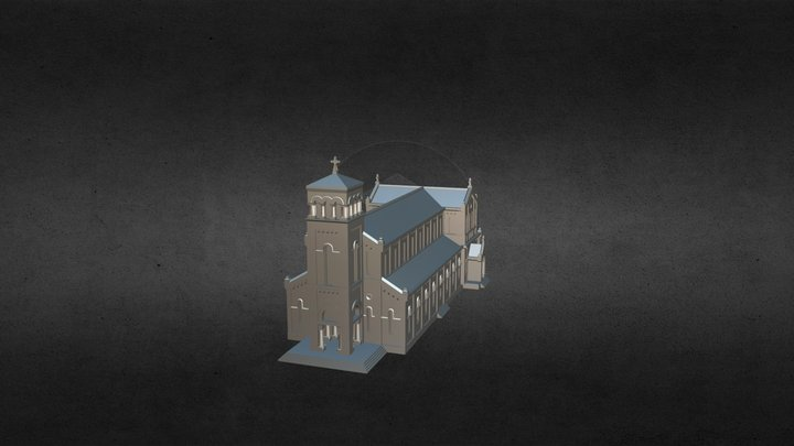 Kiến trúc Nhà thờ LA VANG QUẢNG TRỊ 3D Model