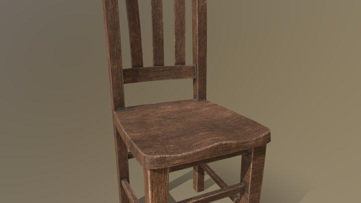 Chair Wooo 3D Model