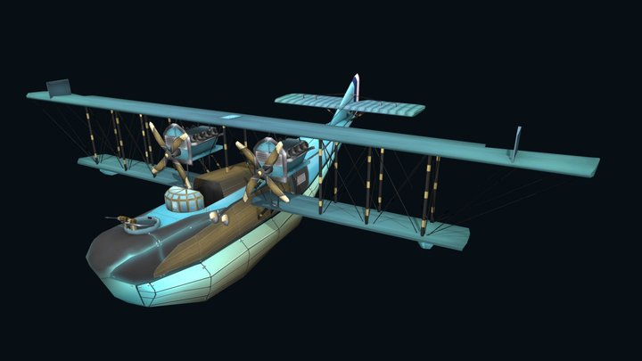 Felixstowe F2a - Flying Circus 3D Model