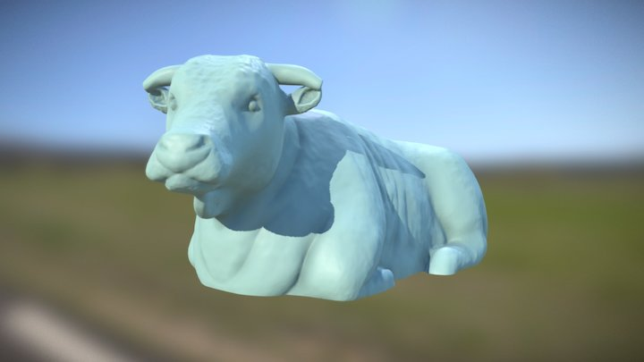 Simple Hereford Cattle - 1/64