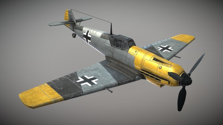 WW2 German Fighter Aircraft BF109e 3D Model