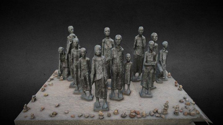 Grosse Hamburger Strasse Cemetery Sculpture 3D Model