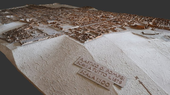 Model of Pompeii in Naples Archaeological Museum 3D Model