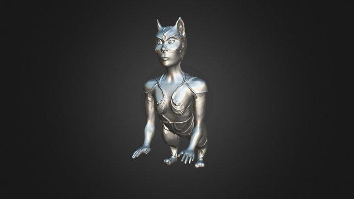 Cat Woman Creature 3D Model