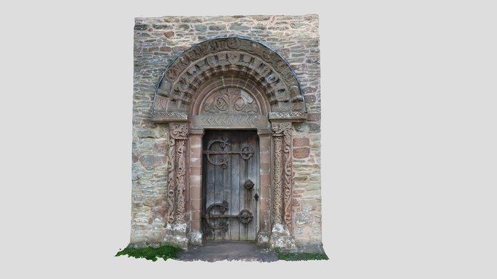Kilpeck Church Door Herefordshire 3D Model