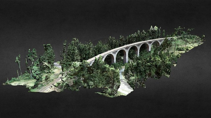 "Viadukt ""Finsterer Grund"" 3D Model"