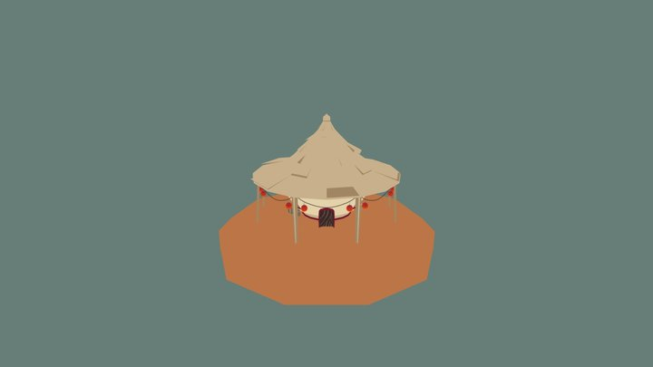 Fantasy Ramen restaurant 3D Model