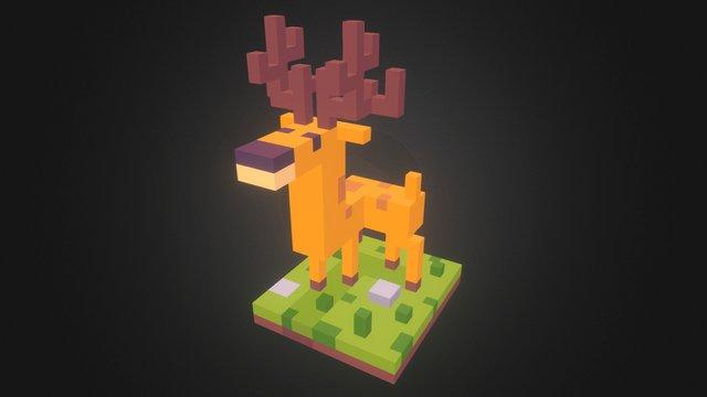 Voxel Deer 3D Model