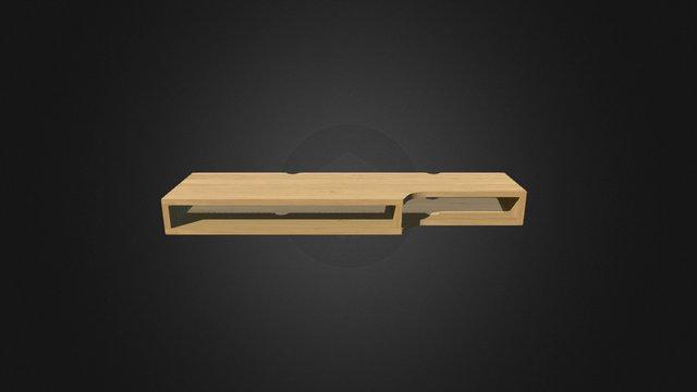 Oak Desk Unit 3D Model
