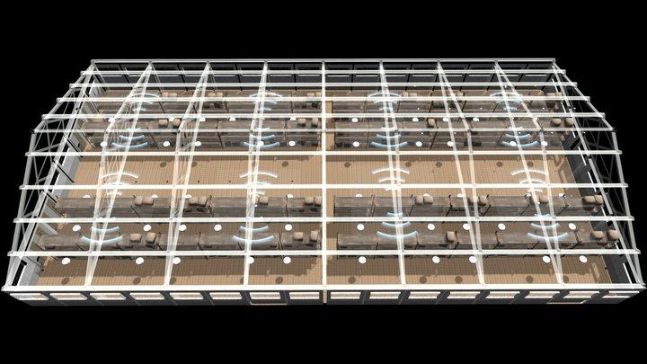 Architecture warehouse  склад 3D Model