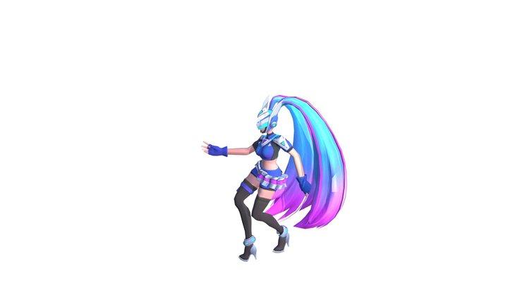 free 3d layla  MOBILE LEGENDS BLUE SPECTER 3D Model