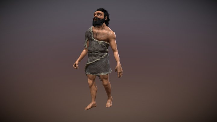 Neanderthal - Game character 3D Model