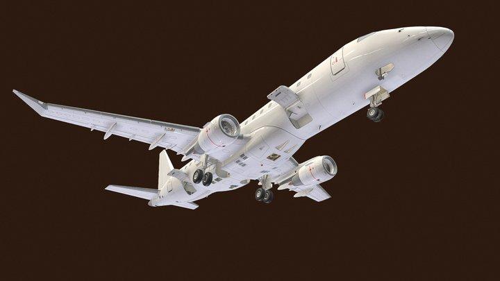 Passenger Aircraft Exterior 3D Model