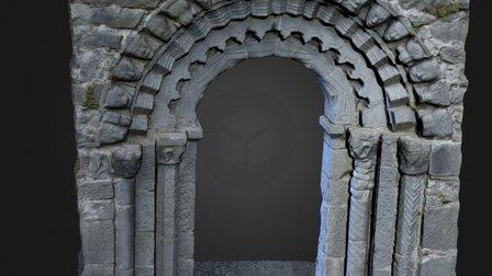 Dysert O Dea - Carved Medieval Church Door 3D Model