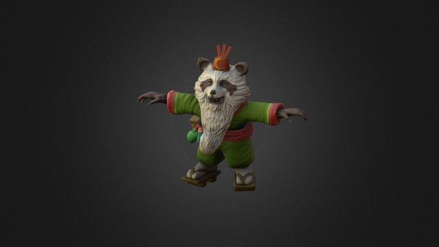 Panda Courier 3D Model