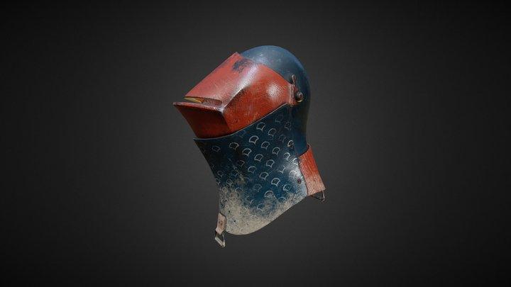 Painted Helmet 3D Model