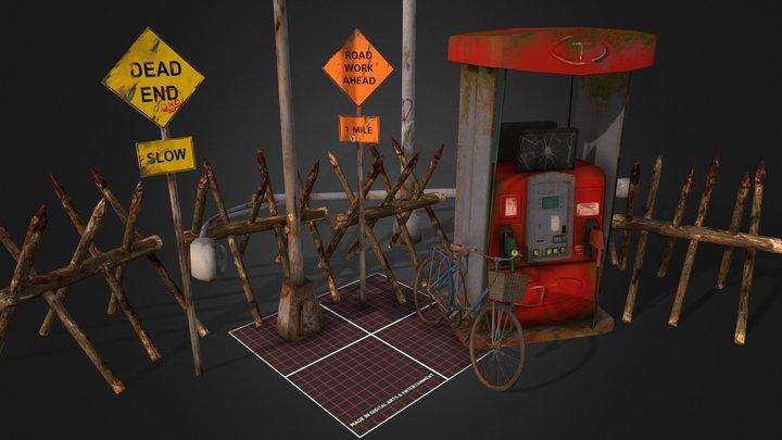 1DAE03 Zombie Apocalypse Props | Q-Week 3D Model
