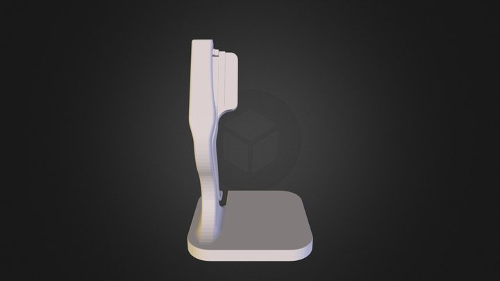 Pebble Steel Stand Without Makerbot Logo (1) 3D Model