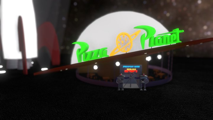 Toy Story Pizza Planet 3D Model