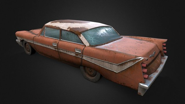 Old Rusty Car 2 3D Model