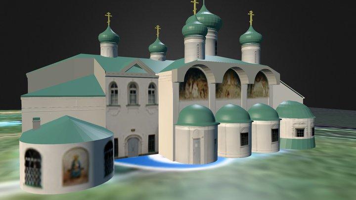 Монастырь Александро-Свирский Преображенский 3D Model
