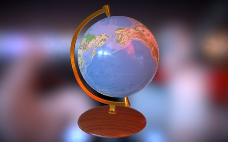 Globe Mappemonde 3D Model