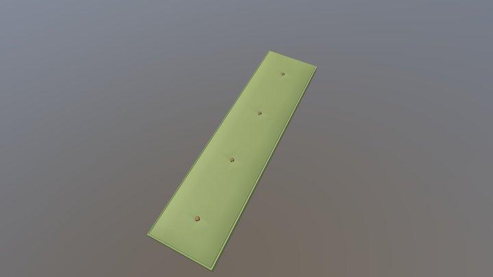 Bench Cushion 3D Model