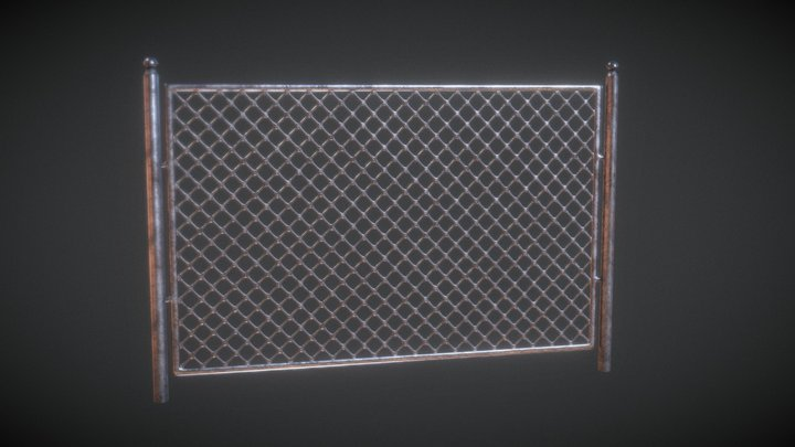 Low Poly Metal Fence | Agustin Honnun 3D Model