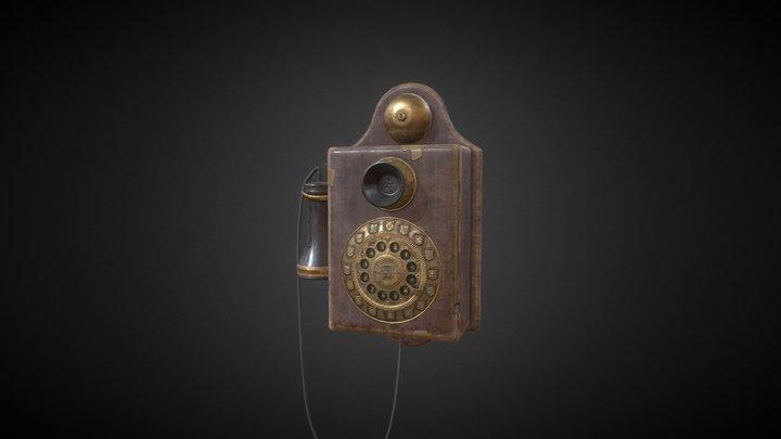 Prop PMT 1903 Wall Telephone 3D Model