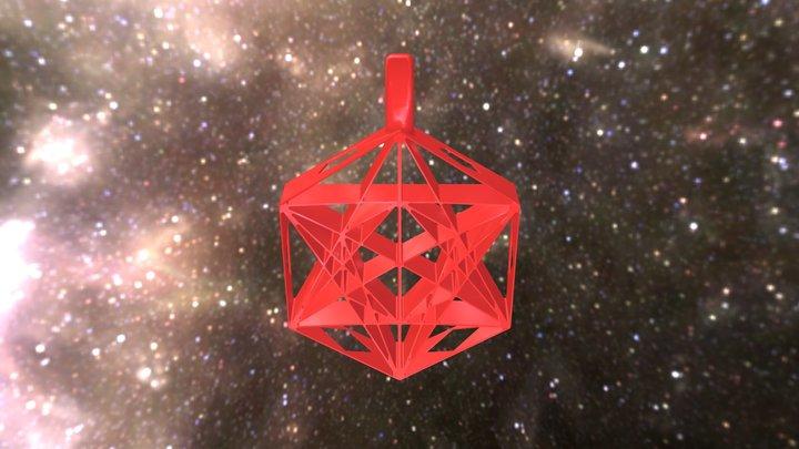 Metatrons Cube Pendant 3D Model