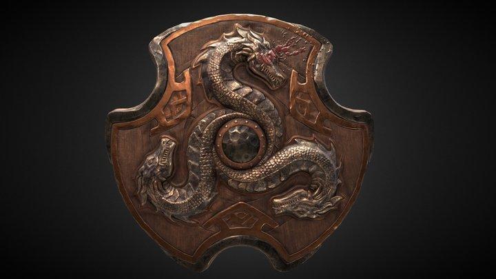 Shield of the three sea serpents 3D Model
