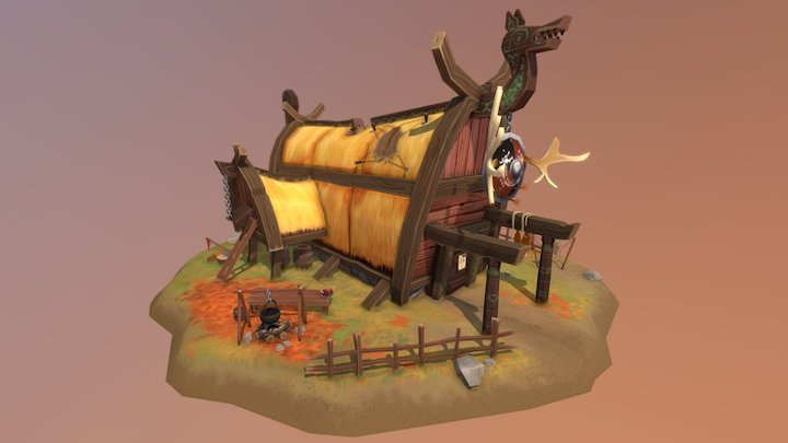 Ulf the hunter's shed 3D Model