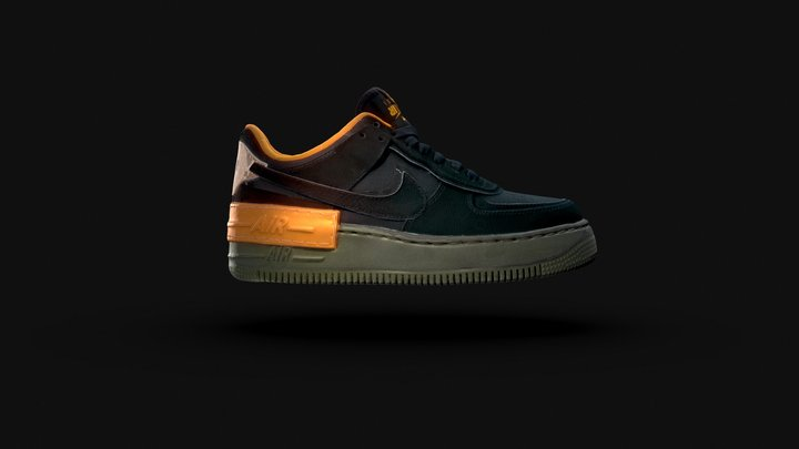 Nike Air Force 1 Shadow 3D Model