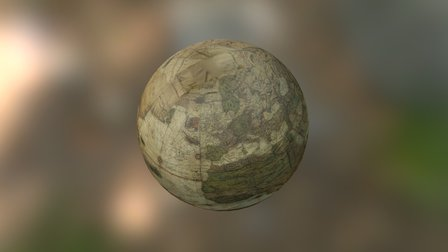 Mercator globe (earth) 3D Model