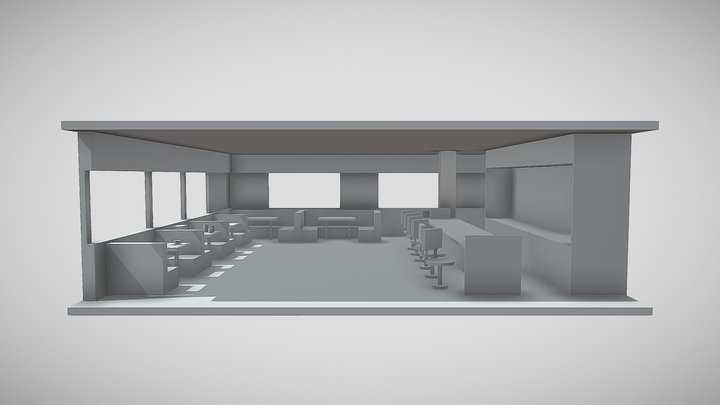 Diner Scene 3D Model