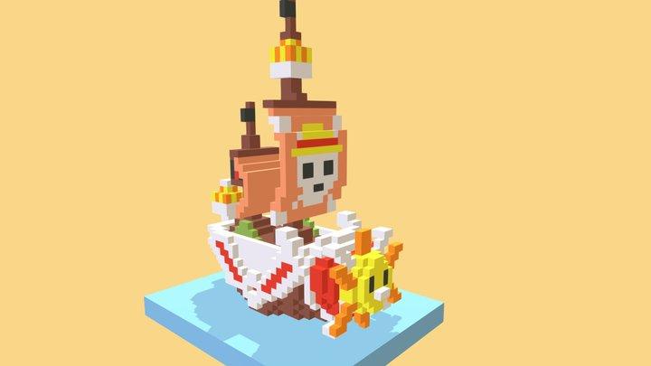 Voxelart Nanoblock One Piece Thousand Sunny 3D Model