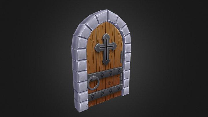 Spooky Door 3D Model