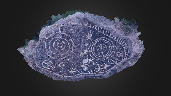 Eastern California Petroglyph Boulder