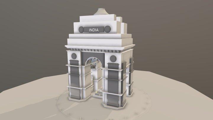 India Gate High Poly Model 3D Model