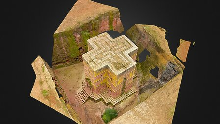 Church of St. George in Lalibela, Ethiopia 3D Model