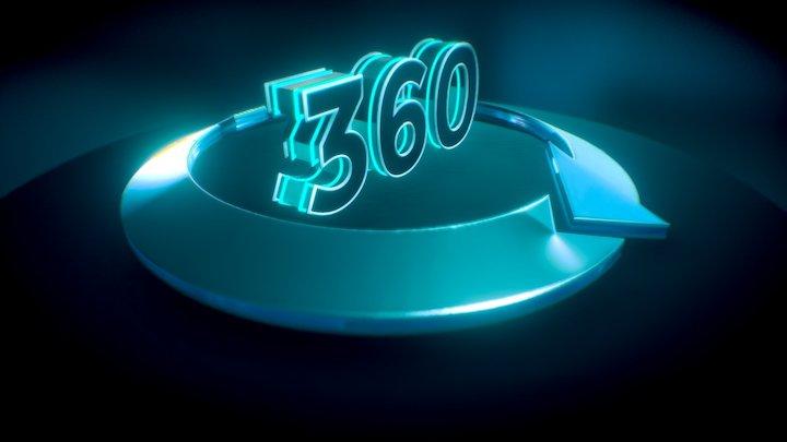360 Icon 3D Model