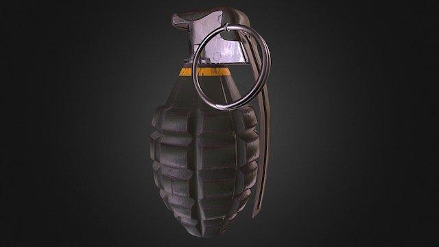 MK2 Fragmentation Grenade 3D Model