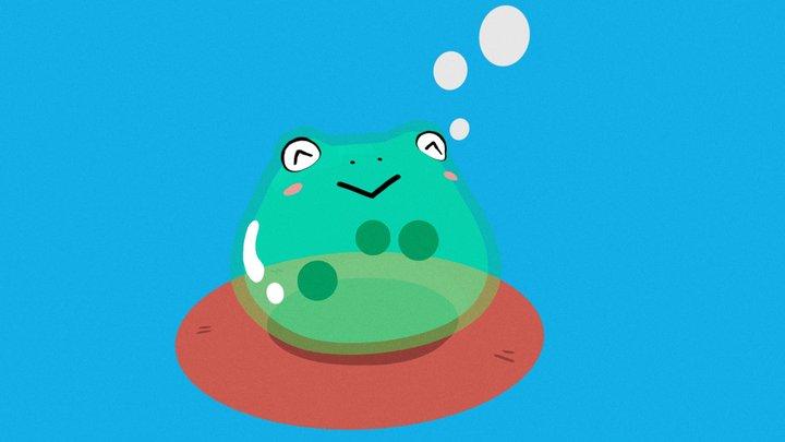 Boba Tea Froggo 3D Model