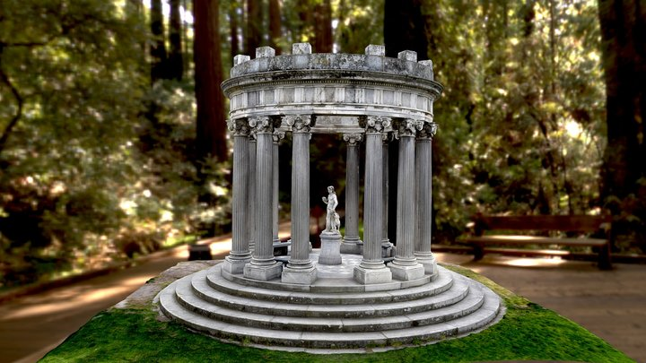 The Temple of Bacchus, Madrid Spain 3D Model