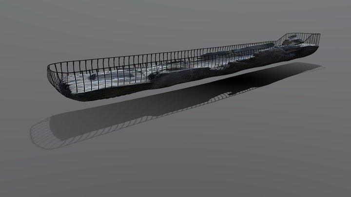 Човен-довбанка з м. Березне ХVI-XVII століття 3D Model