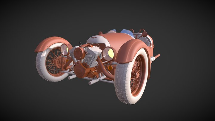 Morgan 3 wheeler 3D Model