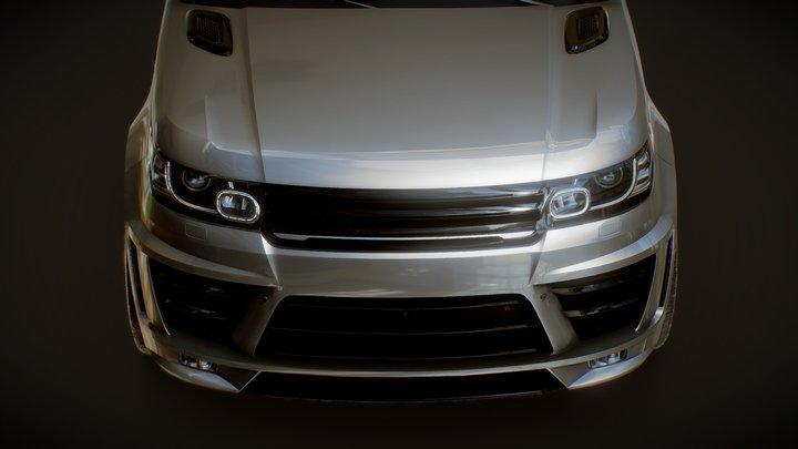 2016 Custom Land Rover Range Rover Sport 3D Model