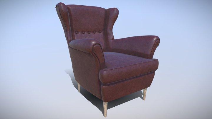 Strandmon Sofa IKEA Low-poly 3D Model