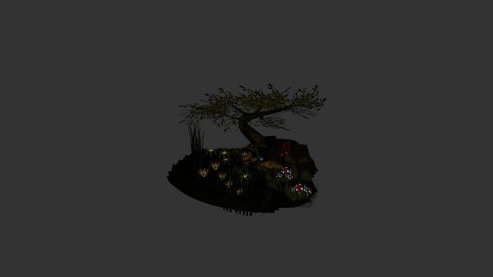 Swamp Scene 3D Model