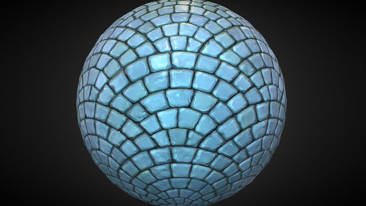 Cartoonish Cobblestone 3D Model